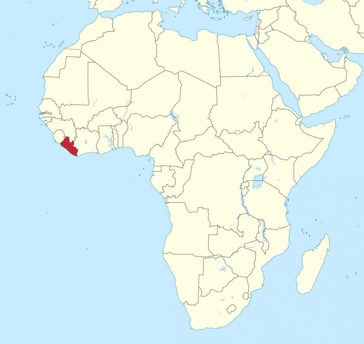 Liberia I Afrika Karta Karta Over Liberia I Afrika Vastra